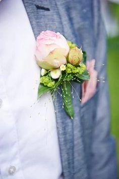 Zarter Anstecker für Hochzeit