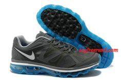 #topfreerun3 com Save Up To 54%,$59.2 Mens Nike Air Max 2012 Dark Grey Black Blue Glow Shoes