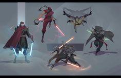 ArtStation - Some ninjas, Aleksey Bayura