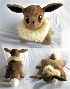 Eevee Pillow Pal by *xSystem on deviantART