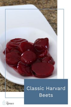 These classic Harvard beets are delicious. The beets are sliced and cooked in a sweet and sour sauce made with vinegar and sugar. This reci. Beet Recipes, Cooking Recipes, Pumpkin Recipes, Vegetable Side Dishes, Vegetable Recipes, Steaks, Harvard Beets, Thanksgiving Side Dishes, Thanksgiving Treats