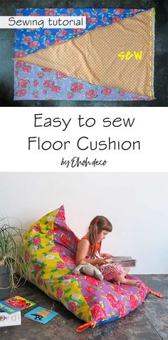Make a floor cushion in one hour Make a floor cushion in one hour Plumetis magazine plumetis Sewing Household Projects Easy to sew floor cushion tutorial nbsp hellip
