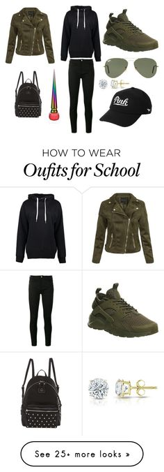 """""""Sans titre #5250"""" by merveille67120 on Polyvore featuring Boohoo, Gucci, NIKE, Ray-Ban, Victoria's Secret, GUESS, Auriya and Christian Louboutin"""