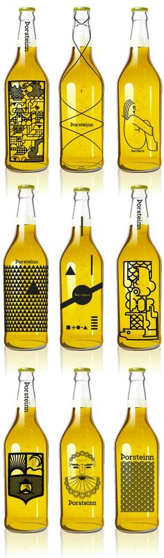 I'd totally buy one of these just for being so different. // Beer bottles by Icelandic design studients: Geir Olafsson, Hlynur Ingólfsson, Þorleifur Gunnar Gíslason