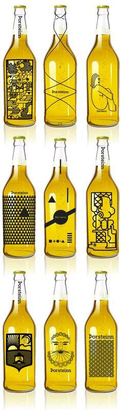 Beer bottles by Icelandic design studients: Geir Olafsson, Hlynur Ingólfsson, Þorleifur Gunnar Gíslason