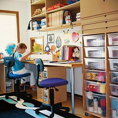 Make storage space in a small area for all of your craft and homework supplies.