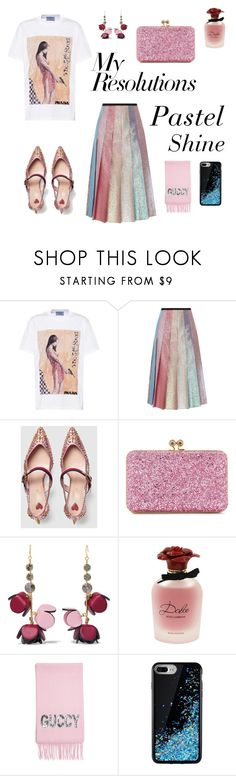 """""""#PolyPresents: New Year's Resolutions"""" by vickie-rose ❤ liked on Polyvore featuring Prada, Gucci, Sophie Hulme, Marni, Dolce&Gabbana, contestentry and polyPresents"""