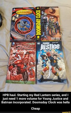 Starting my Red Lantern series, and I just need 1 more volume for Young Justice and Batman Incorporated. Doomsday Clock was hella Cheap - Cheap - iFunny :) Funny Batman Memes, Doomsday Clock, Geoff Johns, Grant Morrison, Red Lantern, Young Justice, Popular Memes, Lanterns, Give It To Me
