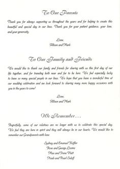 35 Best Wedding Program Thank You Sample Wording Images Wedding