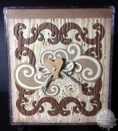 An Elegant Touch...: February: Hearts-Flowers-Candy - CD Jewel Case Card for a Man!