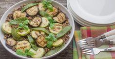 Grilled Eggplant and Apple Quinoa Salad