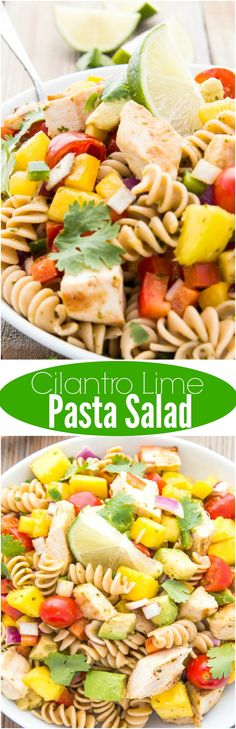 Cilantro Lime Pasta Salad has a little bit of sweet, a little bit of sour, and a whole lot of sass.