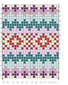 Bilderesultat for desenhos para tricotar fair isle Fair Isle Knitting Patterns, Knitting Charts, Loom Knitting, Knitting Stitches, Knitting Designs, Knit Patterns, Beading Patterns, Stitch Patterns, Knitting Tutorials