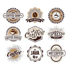Vintage logo vectors, photos and psd files Coffee Shop Logo, Coffee Barista, Coffee Humor, Coffee Quotes, Hot Coffee, Coffee Cafe, Coffee Menu, Coffee Girl, Starbucks Coffee