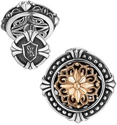 Scott Kay -  Two Tone Filigree Cufflinks.