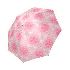 Pink Pattern Foldable Umbrella
