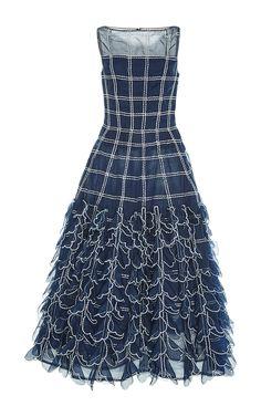 Sleeveless A Line Midi Dress by CAROLINA HERRERA for Preorder on Moda Operandi