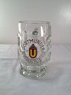 Dortmunder Union Bier .25L beer mug 5in by ugliducklings on Etsy