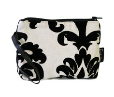 Damask Pattern  BLACK and WHITE floral velvet by estelladesign, $29.00