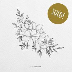 Tatoo Floral, Floral Tattoo Design, Flower Tattoo Designs, Flower Tattoo Drawings, Mini Tattoos, Body Art Tattoos, Small Tattoos, Sleeve Tattoos, Rasta Tattoo