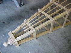 This step by step tutorial of How To Build An Amazing Garden Trellis Obelisk tha. - This step by step tutorial of How To Build An Amazing Garden Trellis Obelisk that is a vertical support structure for flowering plants that prefer to . Garden Crafts, Garden Projects, Wood Projects, Garden Ideas, Patio Ideas, Twig Crafts, Balcony Ideas, Garden Arbor, Garden Trellis