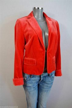 J. Crew VELVET ÉCOLE ECOLE RED JACKET item 97130 SOLD OUT SZ 12 $45.00 FREE shipping in USA RTL $168
