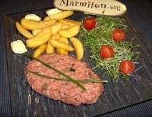 """Americain"" A belgian dishe with raw meat , deliciouse"