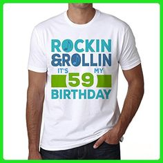 Rockin&Rollin 59, mens tshirts, rock and roll birthday shirt, gift tshirts - Birthday shirts (*Amazon Partner-Link)