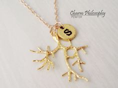 Hey, I found this really awesome Etsy listing at https://www.etsy.com/listing/246846139/gold-tree-branch-necklace-personalized