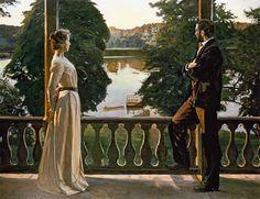 Richard Bergh (1858-1919): Nordic Summer Evening, (1889–1900), Goteborgs Konstmuseum