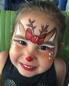 Face Painting Designs, Body Painting, Reindeer Face Paint, Christmas Face Painting, Art Visage, Christmas Makeup, Kids Christmas, Christmas Crafts, Cool Skin Tone