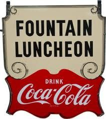 and for breakfast, lunch and supper and all of the time in between! !     Coca-Cola sign #cocacola