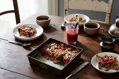 Vanilla Berry Baked Oatmeal recipe. Flax meal/ oats/  berries/ pecans. Food52