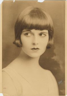 Portrait of a very young Louise Brooks, when she was at the dance school.