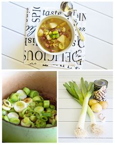 Patrick Holfords Leek, potato and bean soup
