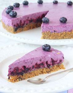 Blåbärscheesecake – Lindas Bakskola