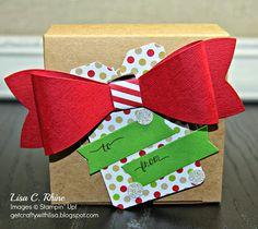 No Peeking Gift Box with Gift Bow Bigz Die and Chalk Talk Framelit