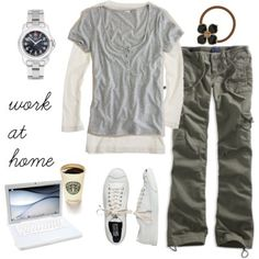 """totally a work at home outfit..i only dream of wearing this while I am """"working at home""""...lol!"""