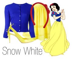 """""""Snow White~ DisneyBound"""" by basic-disney ❤ liked on Polyvore featuring Alice + Olivia, Disney, N.Peal, Salvatore Ferragamo and Nicholas Kirkwood"""