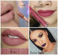 Coloured Raine liquid lipsticks