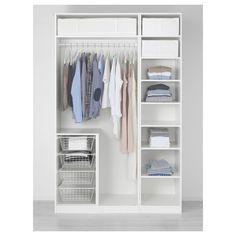 IKEA - PAX, Ormar, 150x60x236 cm, standardne šarke, , 10-godišnja garancija. Pročitajte više u garantnoj brošuri.Lako možete prilagoditi ovu već napravljenu PAX/KOMPLEMENT kombinaciju svojim potrebama i ukusu koristeći alat za planiranje PAX ormara.Ako želite organizirati unutrašnjost, nadopunite unutarnjim organizatorima iz KOMPLEMENT serije.Zahvaljujući podesivim nogarima, možete poravnati sve nepravilnosti na podu.