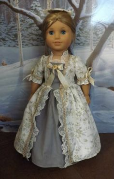 New Year Ballgown for American Girl Felicity and Elizabeth