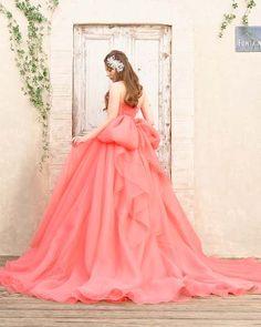 Muhteşem nüans pembe yetişkin renk elbise