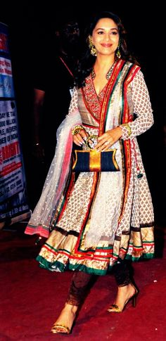 "Bollywood Dancing Sensation ""Madhuri"" in a lovely Anarkali Dress."