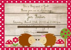 Real Shower: Woodland Nature Themed Twin Welcome