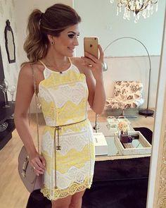 {De hoje } Vestido de renda @estilonanaminze  • #lookdodia #lookoftheday #ootd #selfie #blogtrendalert