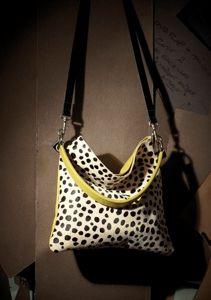 2bd4c1b269ac Owen Barry Lemon   Black Ciga Cowhide Iggy 3 in 1 Crossbody   Clutch    Should Bag Handbag