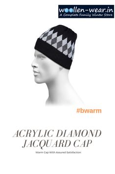 2e2c5f27db9 Acrylic diamond jacquard Cap .Warm cap with assured satisfaction   snowjacket  snowjackets  menssnowjacket