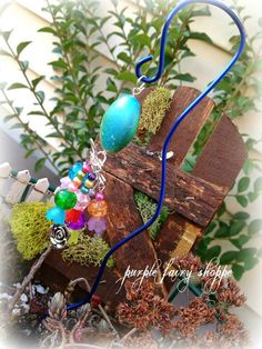 Fairy Garden Miniature Wind Chime Fairy by PurpleFairyShoppe