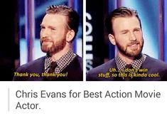 Chris Evans for Best Action Movie Actor